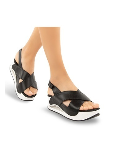 Muya Assos Anatomik Air Max Tabanlı Kadın Sandalet Siyah